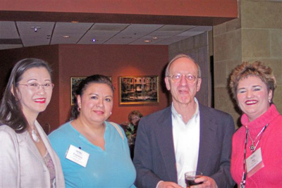 (L to R): Lourdes Lee Kong, Patricia Lande, Dr. Paul Wallner, and Joy Godby