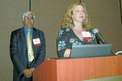 Physician presenters Shyam Paryani and Allison Grow