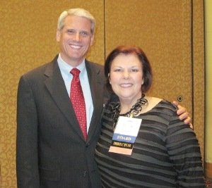 Director Marcia Phillips (R) with Dr. Tim Williams, Board Chair of ASTRO.